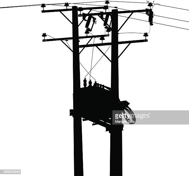 electric transformer - power outage stock illustrations, clip art, cartoons, & icons