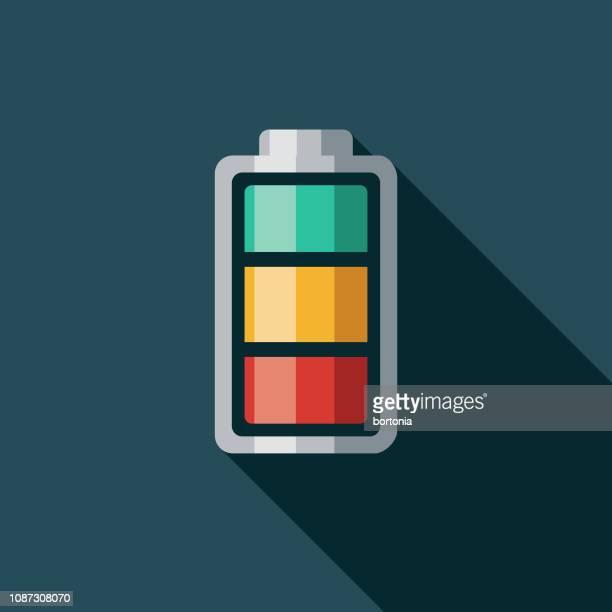 ilustraciones, imágenes clip art, dibujos animados e iconos de stock de icono de nivel de batería de vehículo eléctrico - vehículo eléctrico