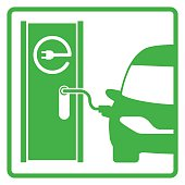 electric vehicle charging station, electric recharging point