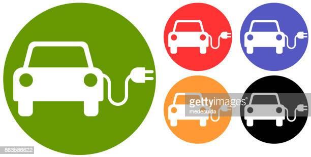 elektrofahrzeug - aufladen stock-grafiken, -clipart, -cartoons und -symbole
