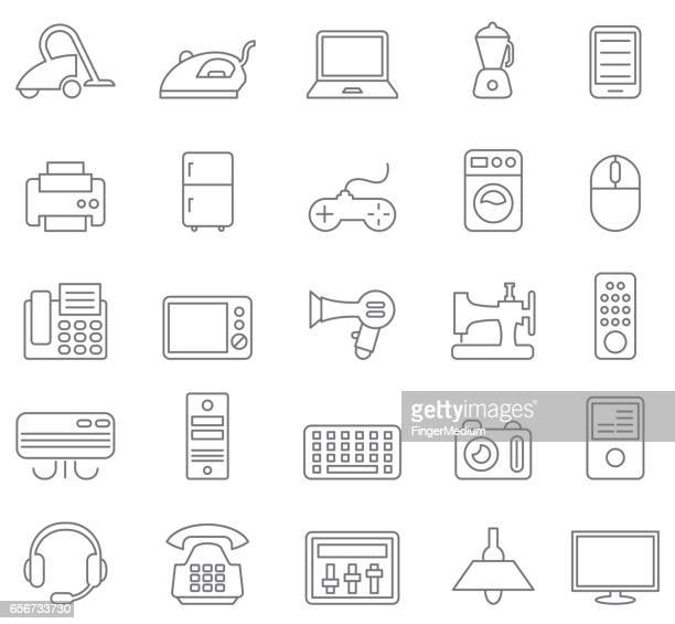 Electrical and electronics icons