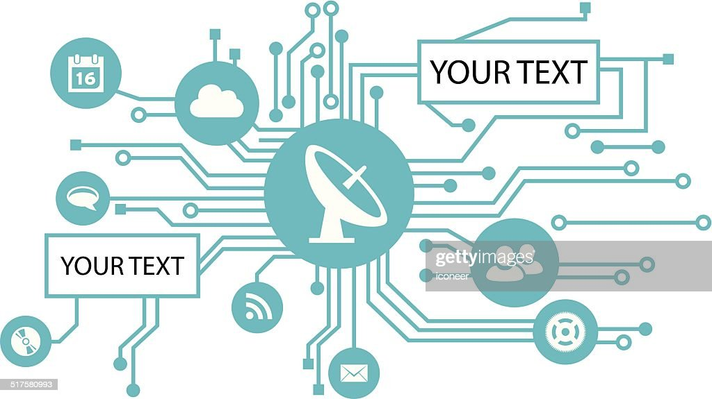 Electrical Circuit With Icons And Copy Text Space Vector Art Getty