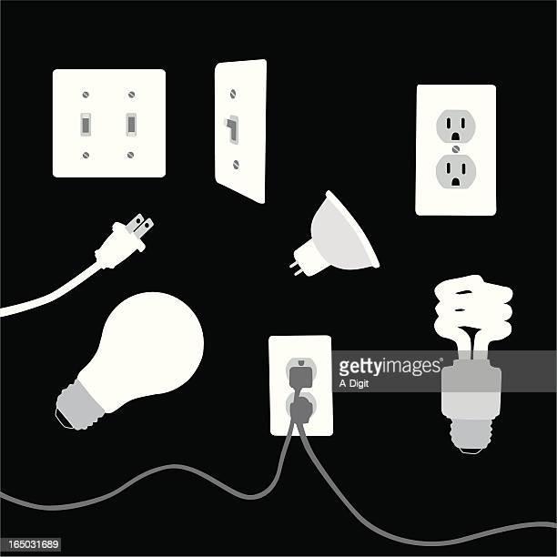 ilustrações, clipart, desenhos animados e ícones de electricalelements - plugue