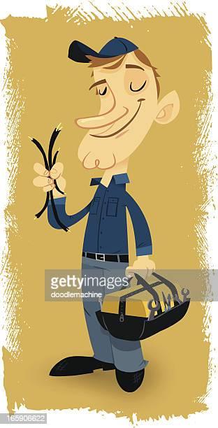 ilustraciones, imágenes clip art, dibujos animados e iconos de stock de eléctrico erin - electricista
