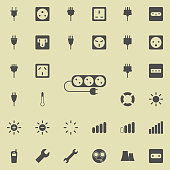 electrical extension cord icon. Detailed set of  Minimalistic  icons. Premium quality graphic design sign. One of the collection icons for websites, web design, mobile app