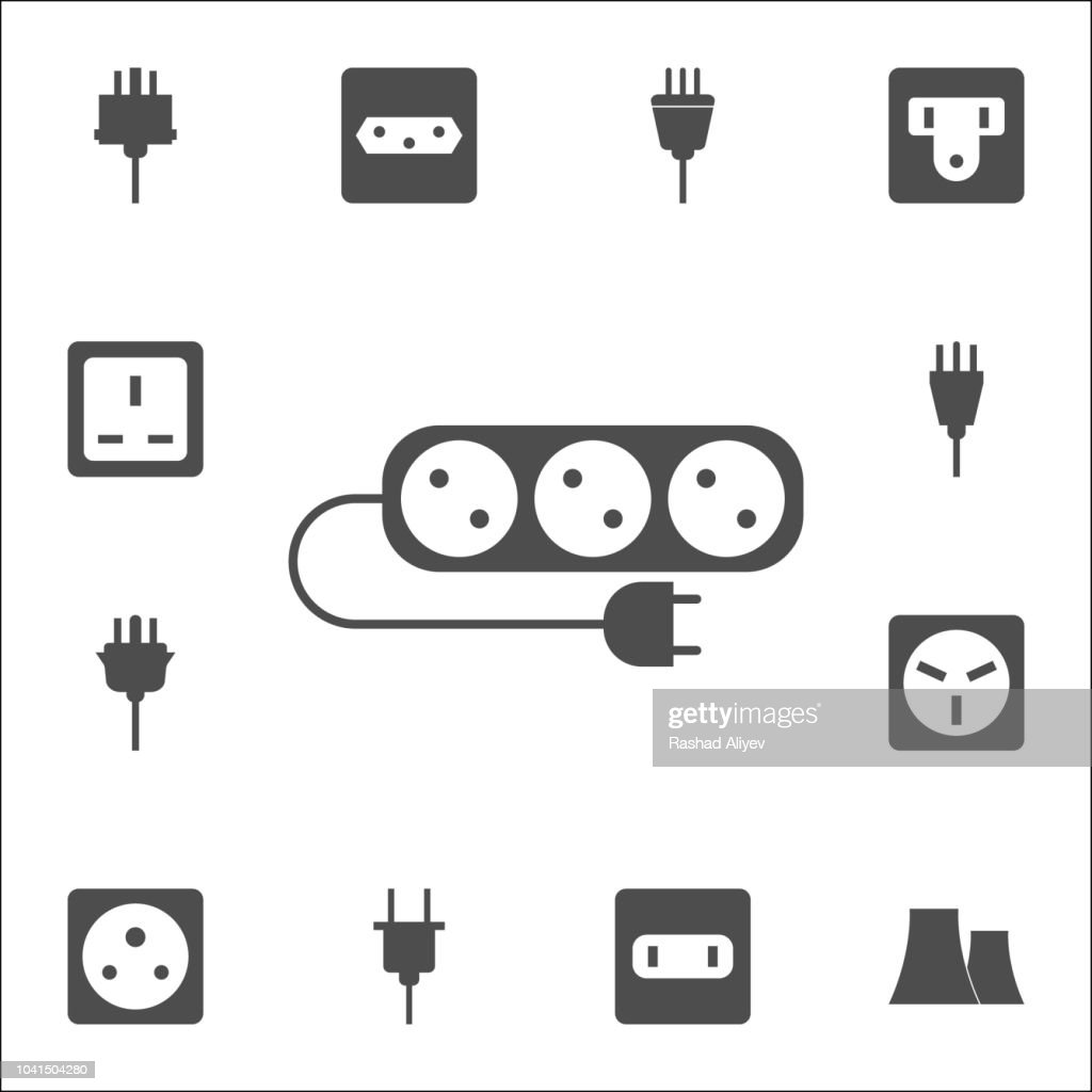 electrical extension cord icon. web icons universal set for web and mobile