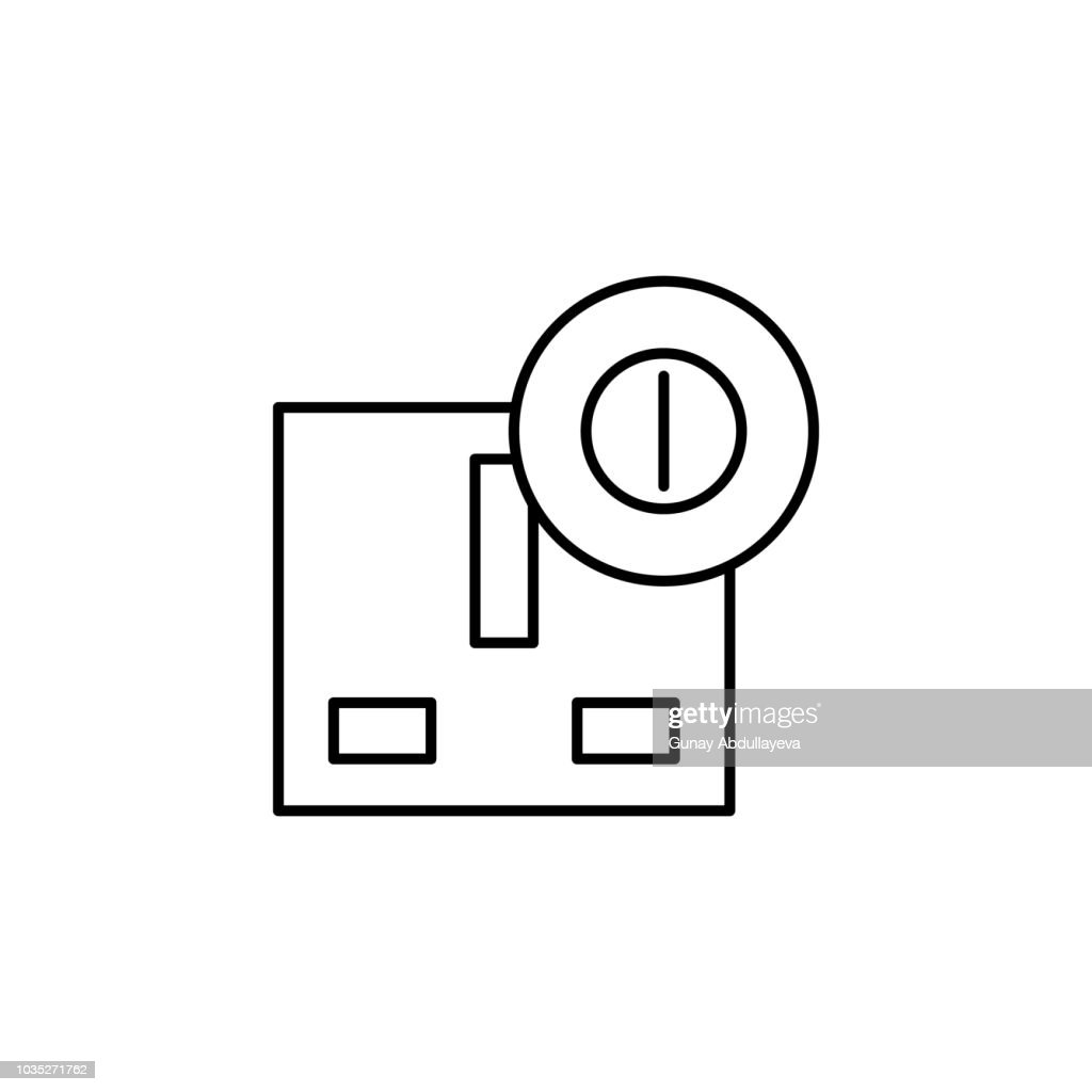 electrical outlet icon. Element of automation icon for mobile concept and web apps. Thin line electrical outlet icon can be used for web and mobile. Premium icon
