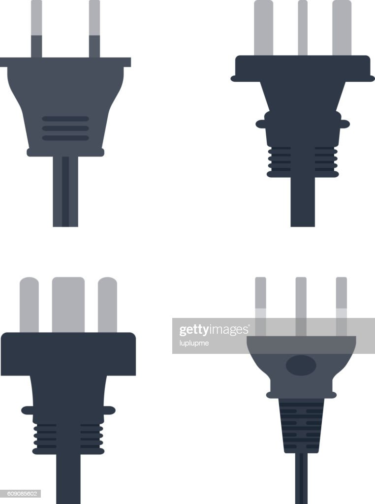 Electrical outlet plug vector illustration.