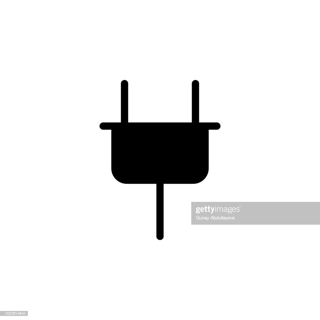 electrical plug icon. Element of simple icon. Premium quality graphic design icon. Signs and symbols collection icon for websites, web design, mobile app