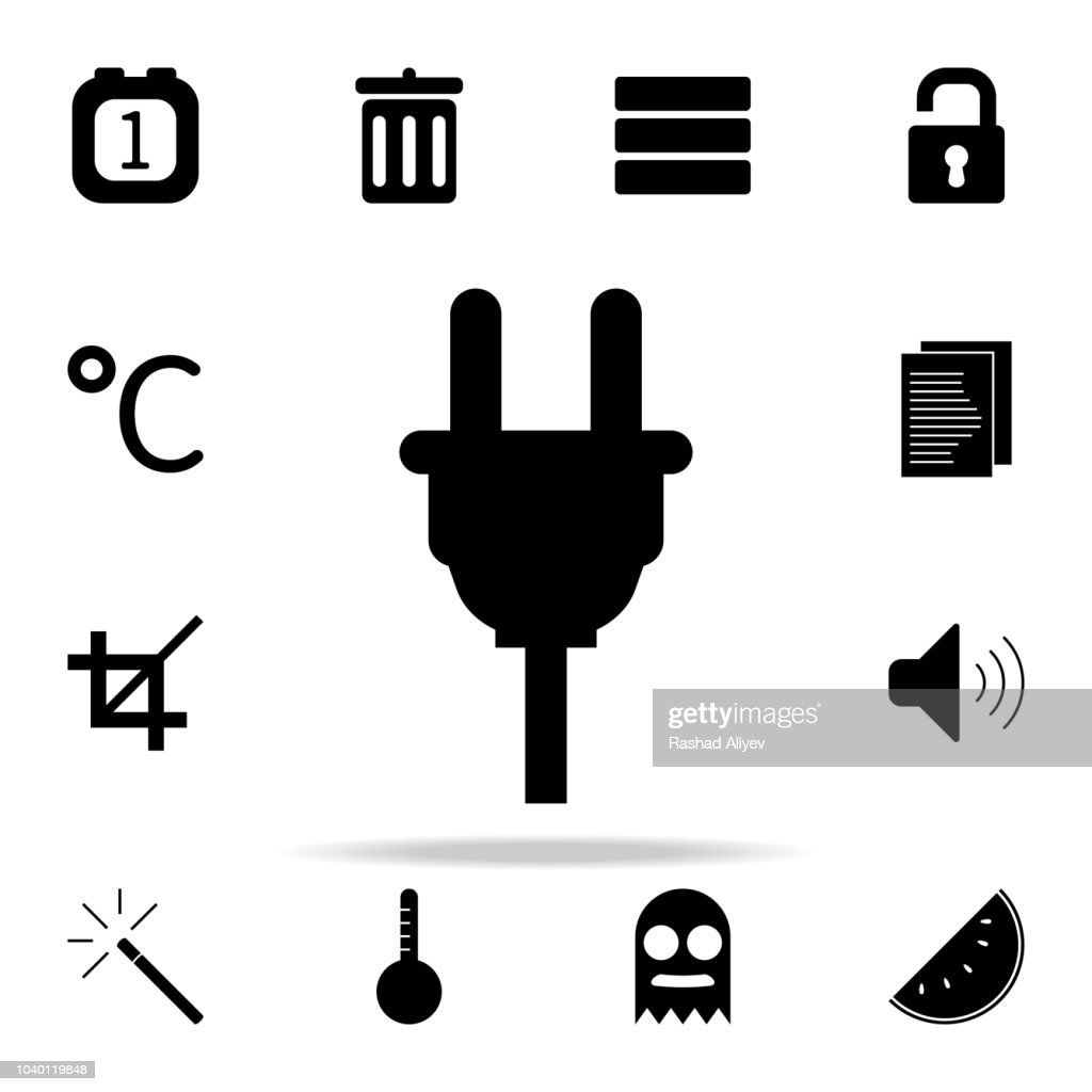 electrical plug icon. web icons universal set for web and mobile