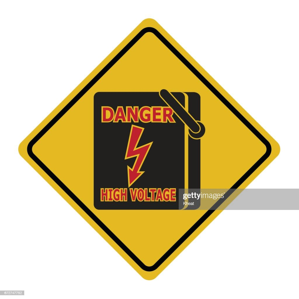 Electrical Switch The Power Voltage Symbol Warning Sign Vector Art
