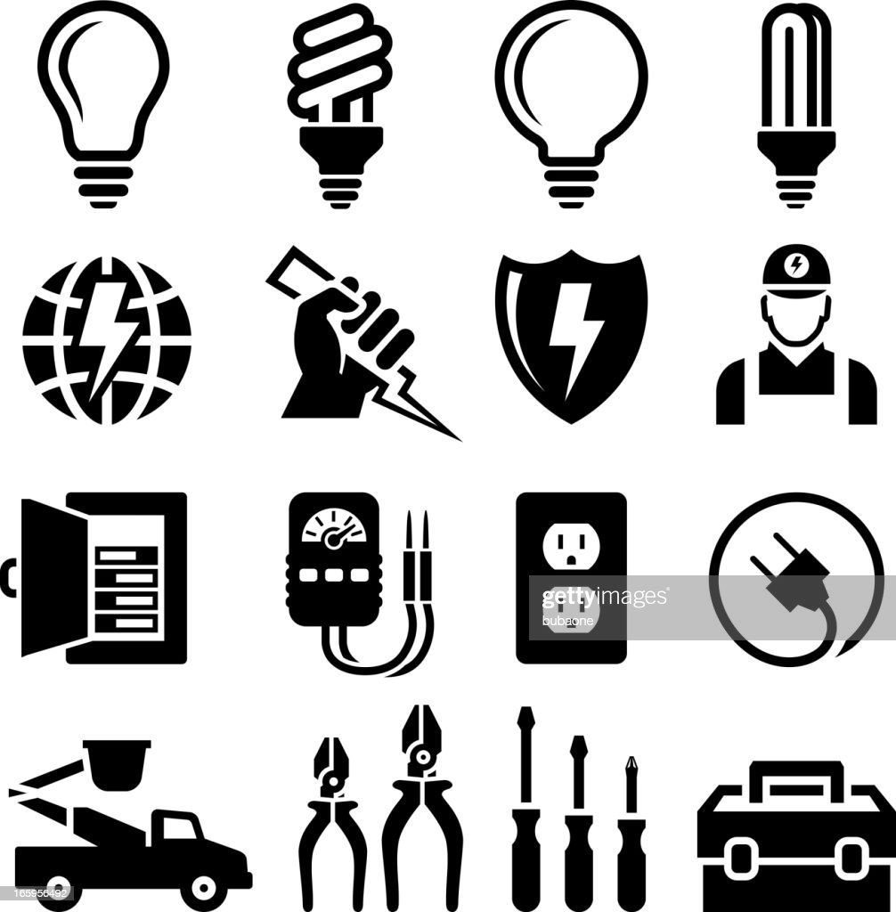 fuse box stock illustrations and cartoons getty images fuse box logo electrician equipment for outlet repair black & white icon set