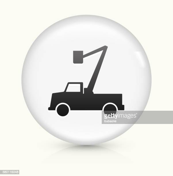 Electrician Truck icon on white round vector button