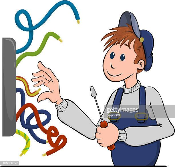 electricien - power outage stock illustrations, clip art, cartoons, & icons
