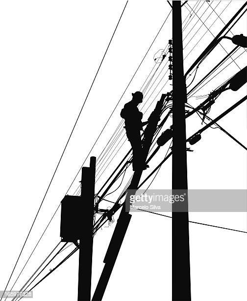 electrician - power outage stock illustrations, clip art, cartoons, & icons