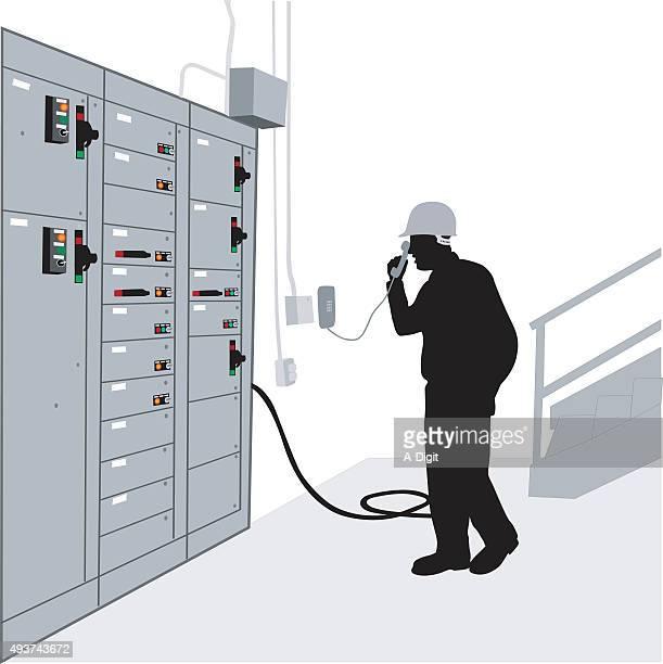 ilustraciones, imágenes clip art, dibujos animados e iconos de stock de electricista - electricista