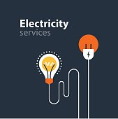 Electricity connection, electrical services and supply, energy saving