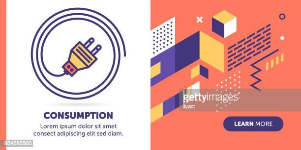 ilustraciones, imágenes clip art, dibujos animados e iconos de stock de bandera de consumo de electricidad - enchufe