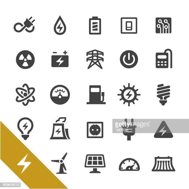 ilustraciones, imágenes clip art, dibujos animados e iconos de stock de iconos de electricidad - serie select - electricista