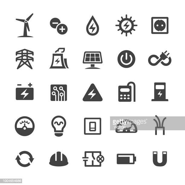 electricity icons - smart series - power supply box stock illustrations, clip art, cartoons, & icons