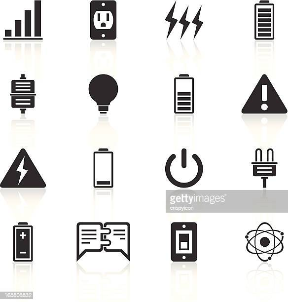 electricity icons - exhaustion stock illustrations