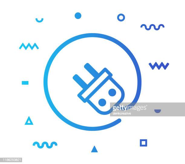 Electricity Line Style Icon Design