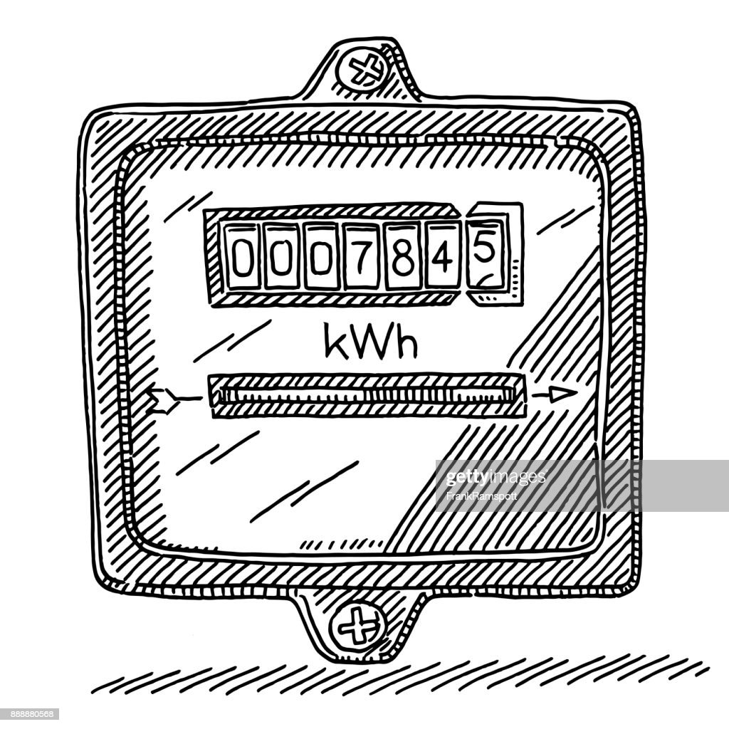 Electricity Meter Drawing Vector Art | Getty Images