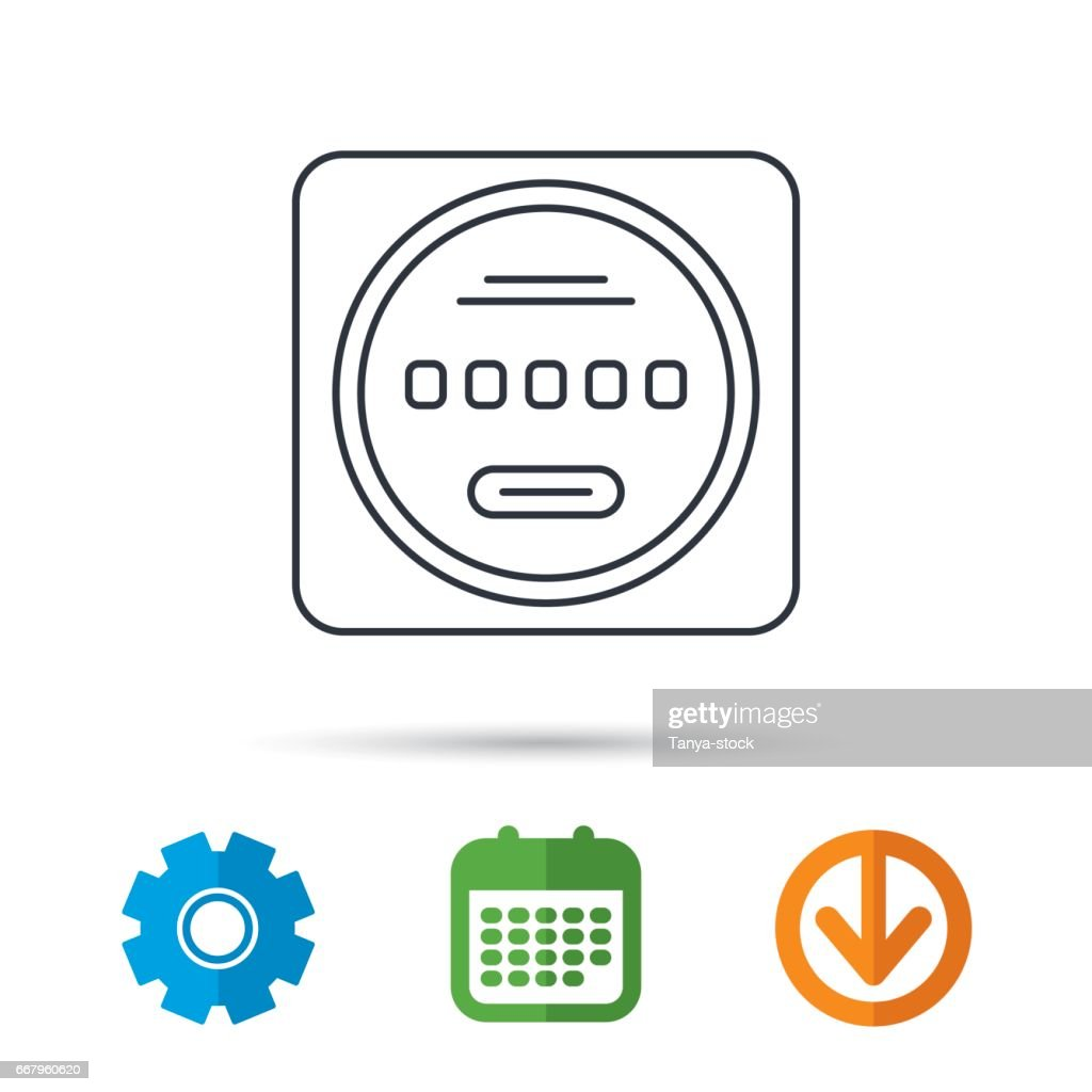 Elektrische Energie Symbolschalter Bewertung Unterzeichnen ...