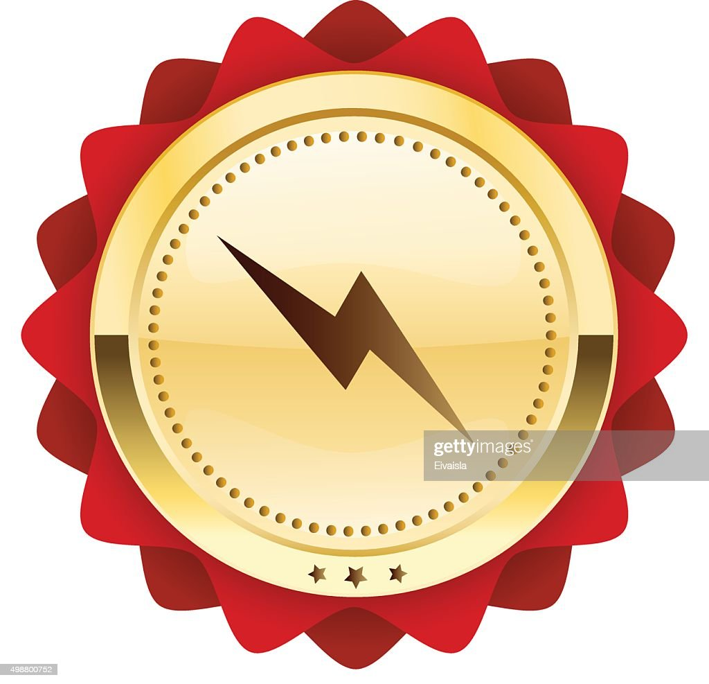 Electricity Seal Or Icon With Light Bulb Symbol Vector Art Getty