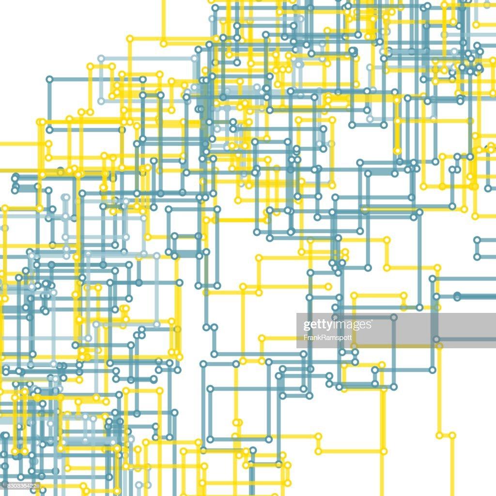 Strom Vector rechteckige Schaltung Linienmuster : Stock-Illustration