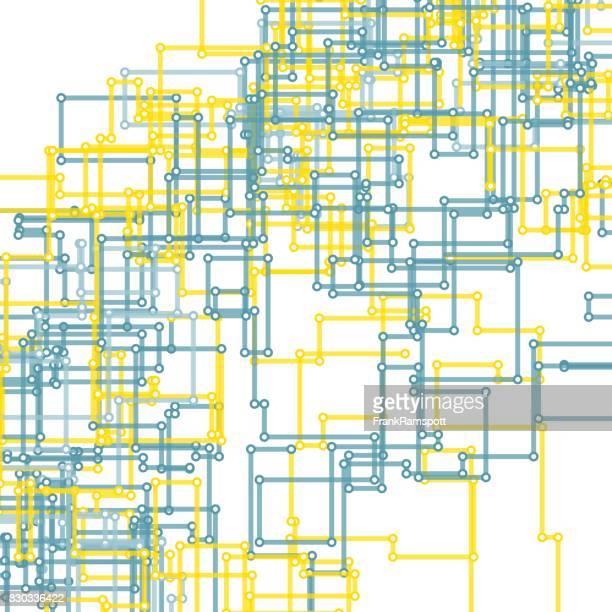 Strom Vector rechteckige Schaltung Linienmuster
