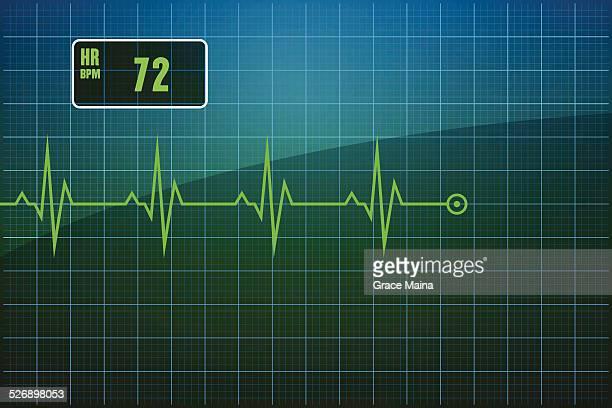 ilustrações, clipart, desenhos animados e ícones de electrocardiogram ekg-vetor - cardiovascular exercise