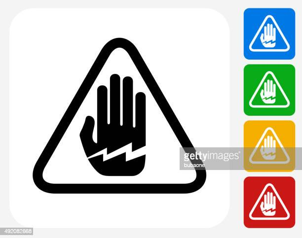 electrocution icon flat graphic design - occupational safety and health stock illustrations, clip art, cartoons, & icons