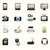Electronic And Devices Icons