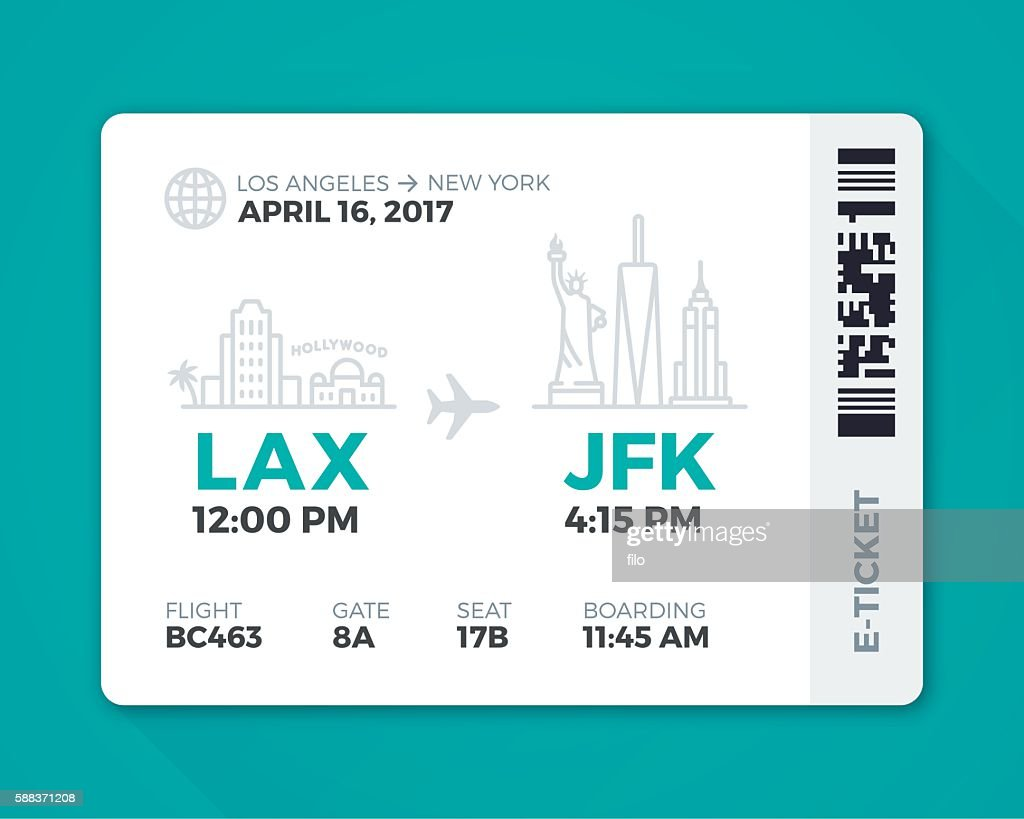 Electronic Boarding Pass Airline Ticket : Stock Illustration