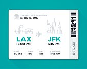 Electronic Boarding Pass Airline Ticket