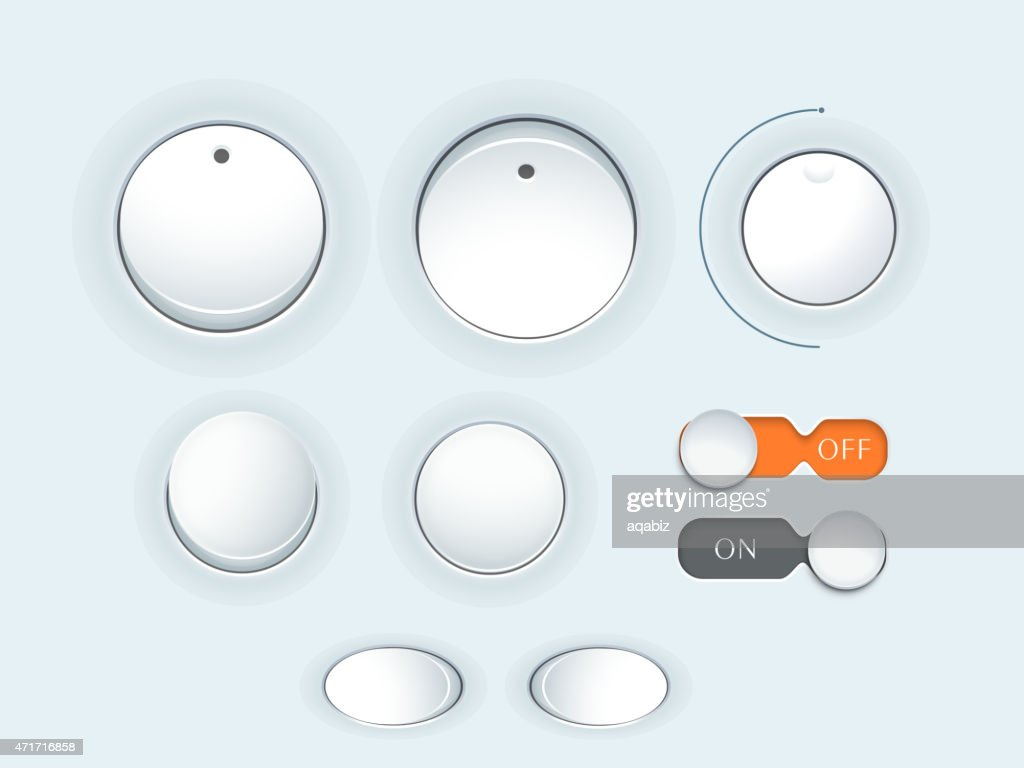 Electronic buttons.