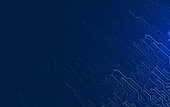 Electronic contacts on dark blue background