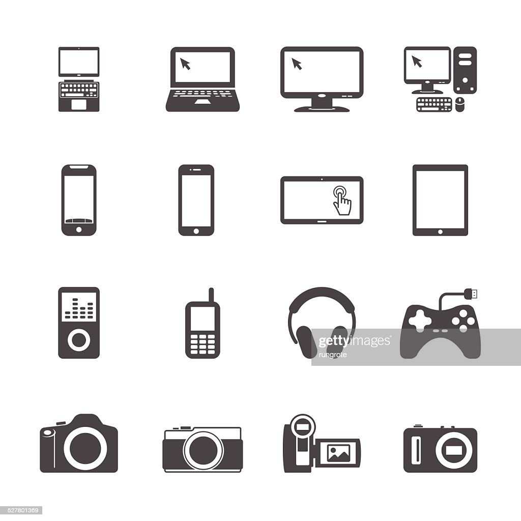 electronic devices icon set, vector eps10