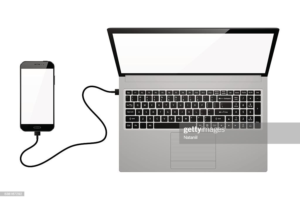 Electronic devices with blank screens : stock illustration