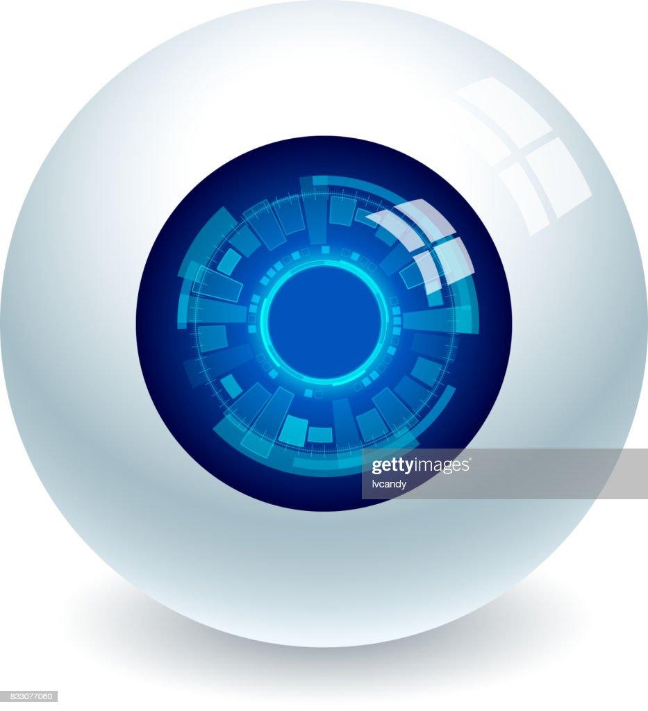 Electronic eye : stock illustration
