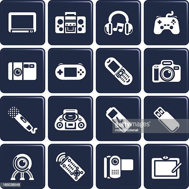 electronic & gadget icons - desk toy stock illustrations, clip art, cartoons, & icons
