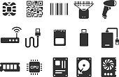 Electronic icons - Illustration