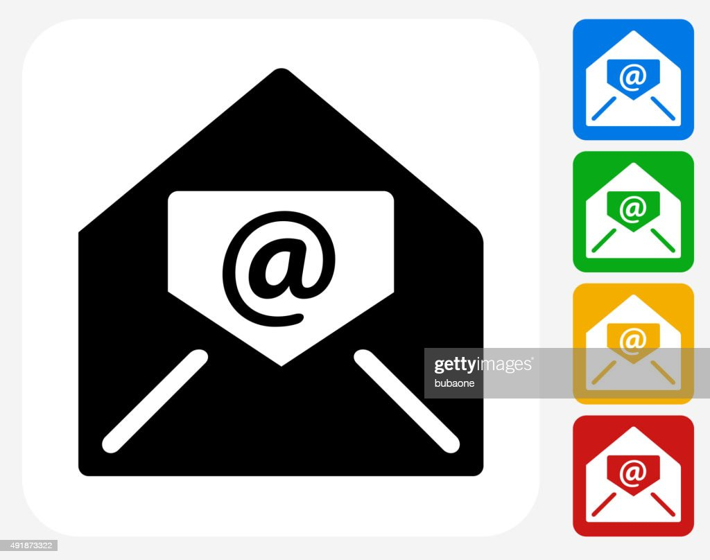 Electronic Mail Icon Flat Graphic Design