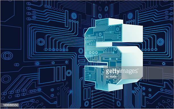 電子マネーのサイン - 電子点のイラスト素材/クリップアート素材/マンガ素材/アイコン素材