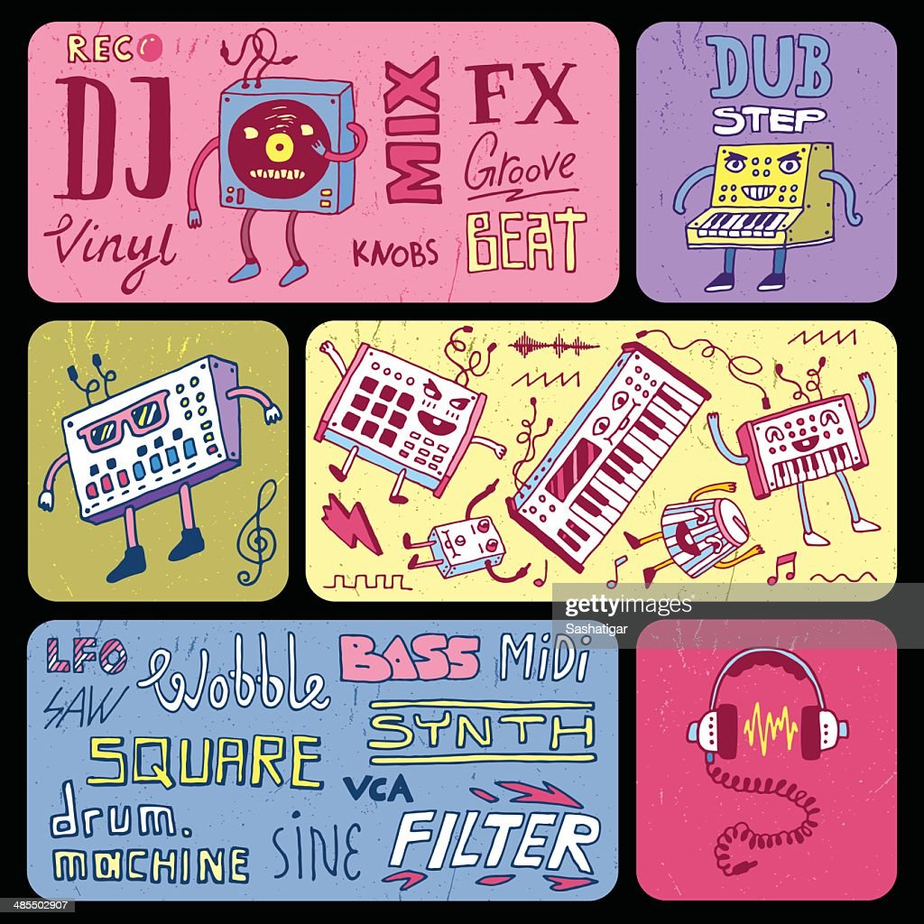 Electronic music banners. Vector illustration.
