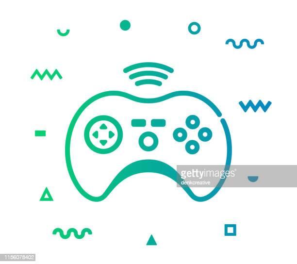 Elektronische sportlijn stijl icon design
