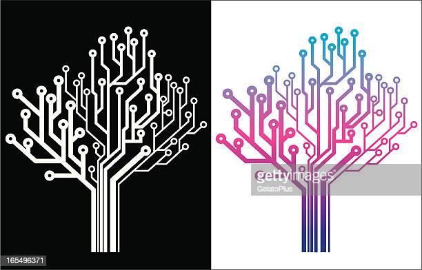 Electronic Tree Icon