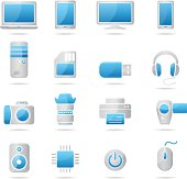 Electronics and Hardware - blue-gray icons
