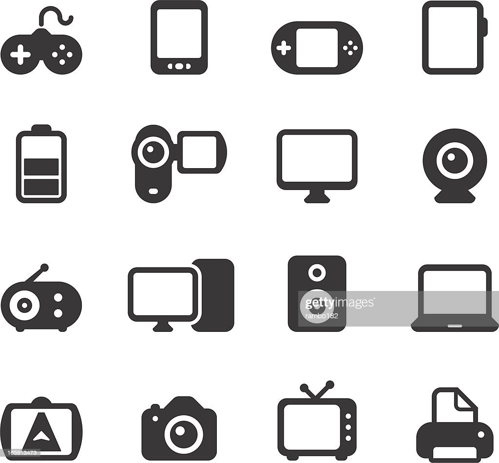 Electronics, Devices Icons